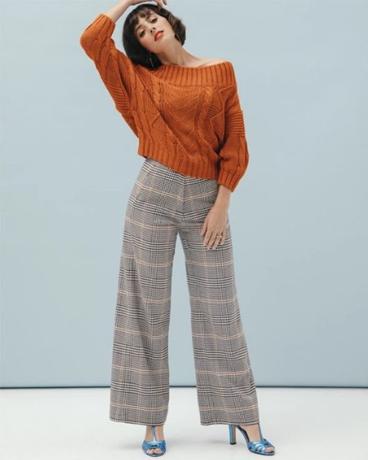 pantalon large, tendance année 2000
